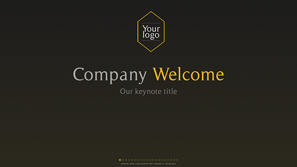 gold keynote template on behance, Presentation templates