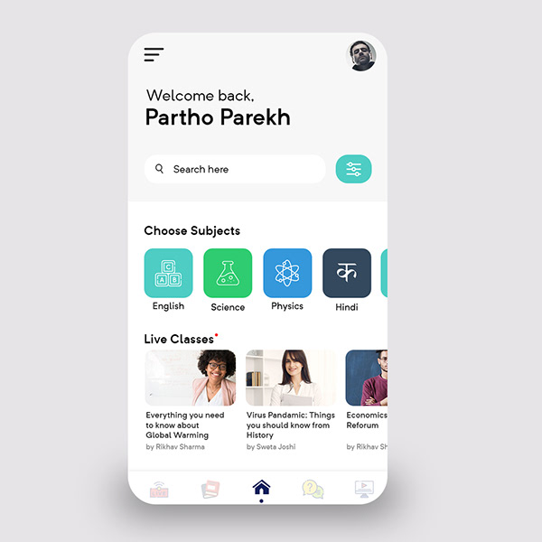 Education App Dashboard UI Design