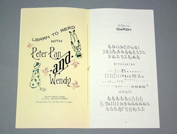 Typespecimen old advertisement  leaflet Victorian Age