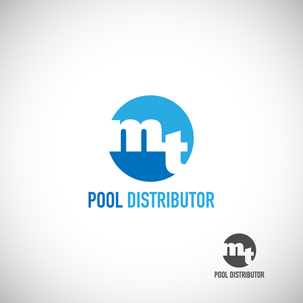Logo design mt pool distributor on behance for Pool design logo