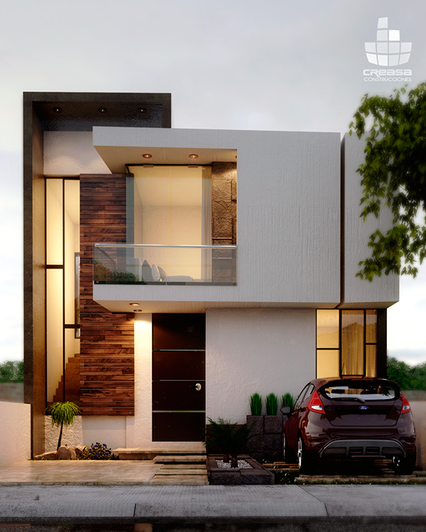Q on behance for Casa habitacion minimalista