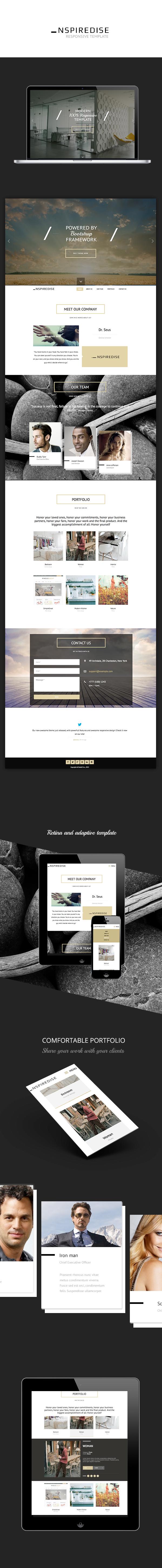 Web Webdesign Responsive Adaptive template themeforest