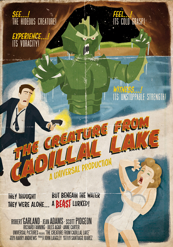 Retro Horror Movie Poster on Behance