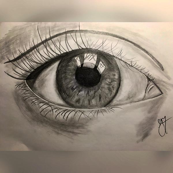 優秀的24張手繪眼睛欣賞
