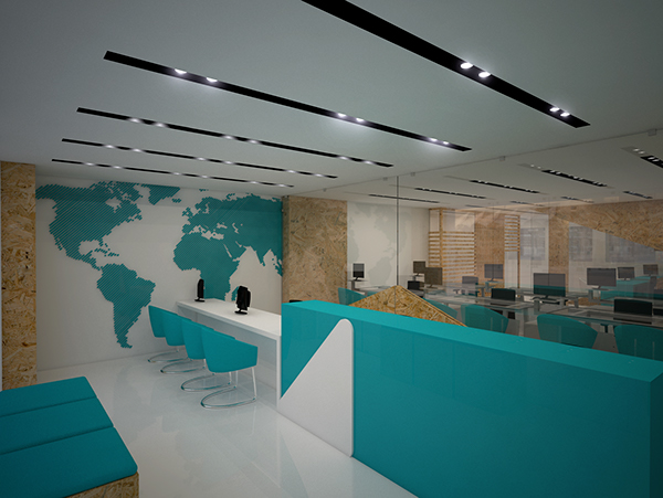 Travel agency on pantone canvas gallery for Travel agency office interior design ideas