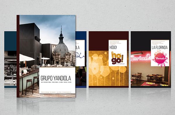 yandiola yan eskola la florinda Hogo yandiola restaurante brochures catering menus