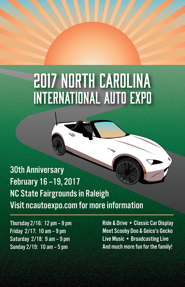 NC International Auto Expo Poster On Student Show - Car show raleigh nc fairgrounds