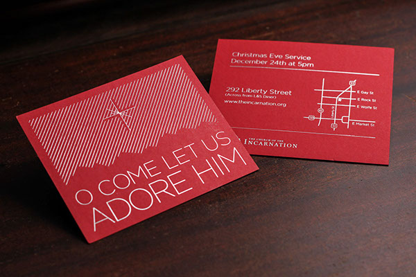 Handout For A Christmas Eve Service On Behance