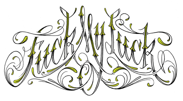 HAND LETTERING Script type illustration