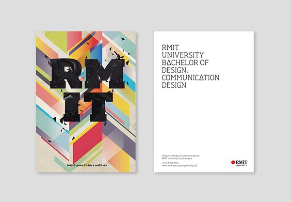 blocks colour grass forest 3D installation postcards geometry Communication Design University RMIT