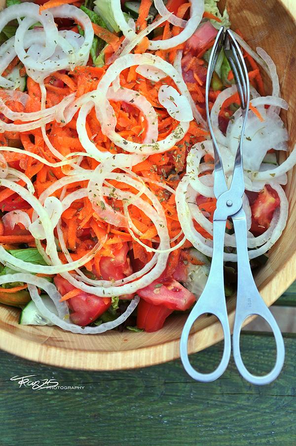 BBQ Food  seafood fish Shells salad cook