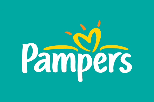 logo hand lettering client procter gamble project logo for pampers