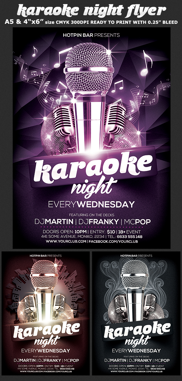Karaoke Night Flyer Template On Behance