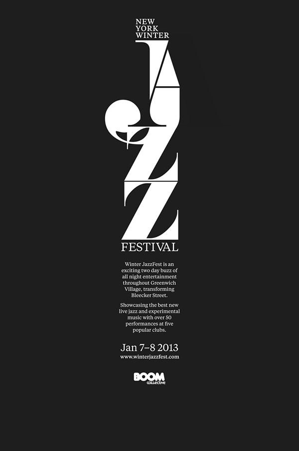 New your winter jazz festival posters promotion on behance