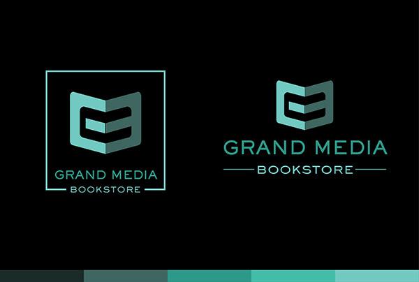 Grand Media Bookstore - Logo Design and concept