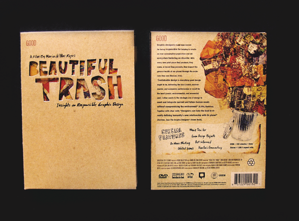DVD cd monterrey mexico recycle green cardboard handmade responsible eco Sustainable Documentary  Beautiful trash Booklet