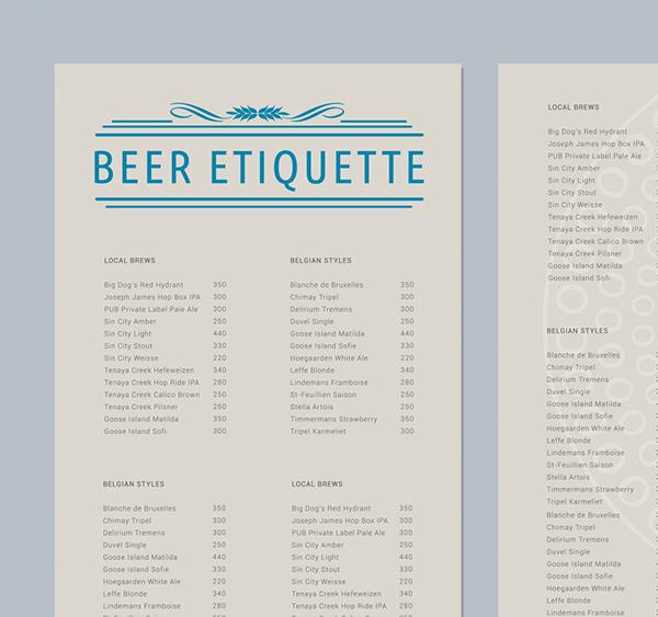 bar beer etiquette bar beer glass identity