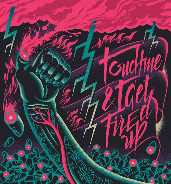 TOUCH ME & I GET FIRED UP / Bic Design on Fire contest by ANDY PANEQUE