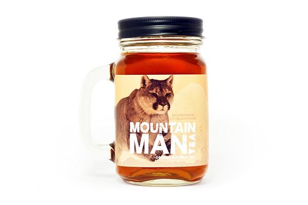 tea mountain bear elk cougar owl mason jar Mountain Man outdoors