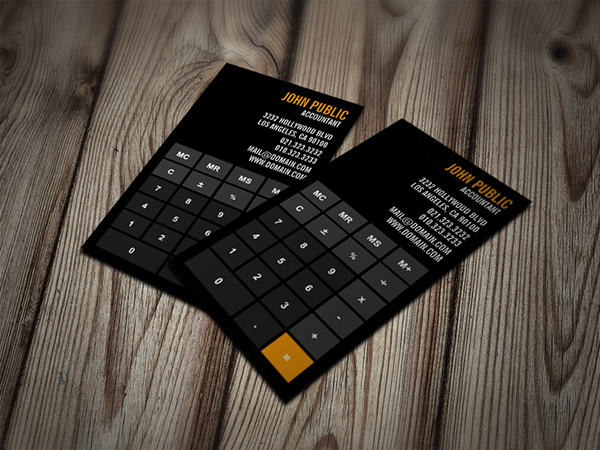 Accountant calculator business cards on behance reheart Images