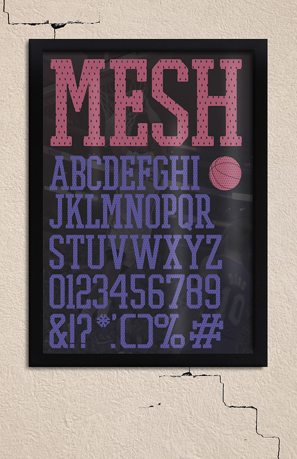 athletic Free font font jersey mesh