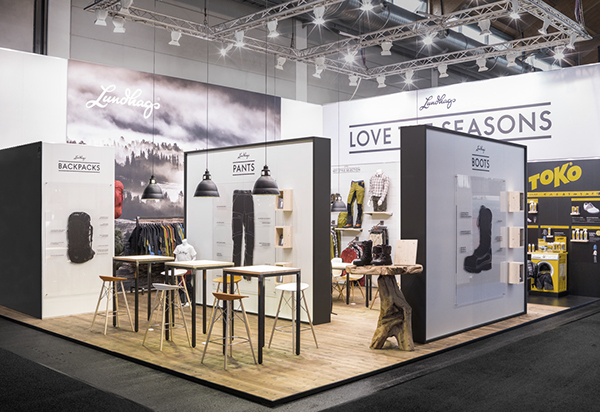 Exhibition Stand Clothes : Lundhags exhibition stand on behance