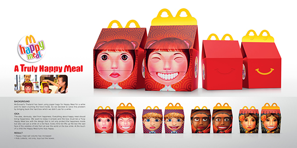 happy meal box on behance
