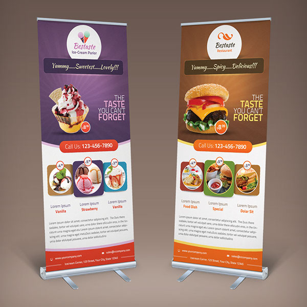 Bestaste Food Billboard & Roll Up Banner on Behance