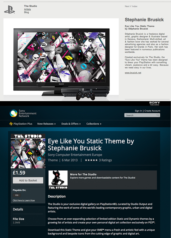 Sony PlayStation Theme on Behance