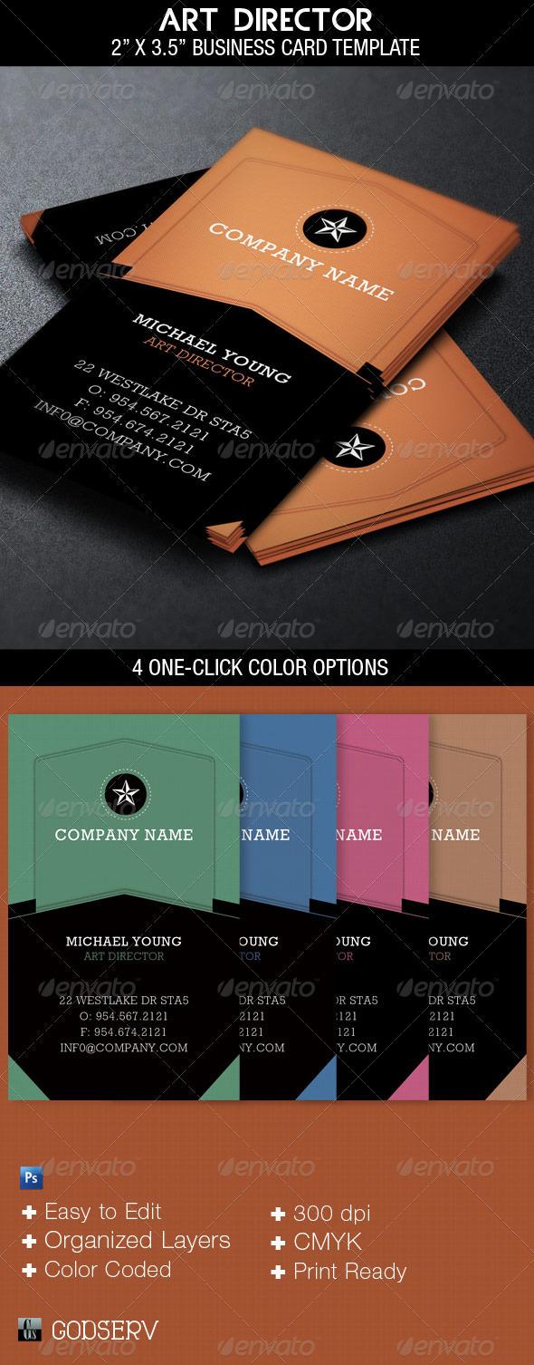 Art Director Business Card Template on Behance