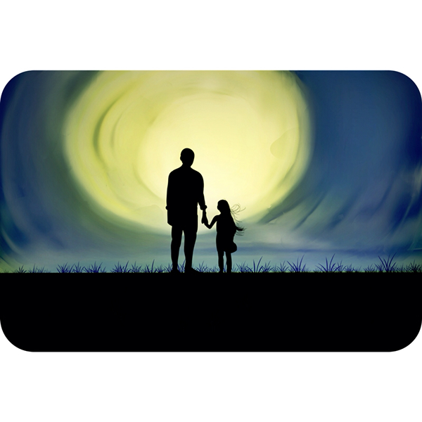 dad and daughter silhouette on behance