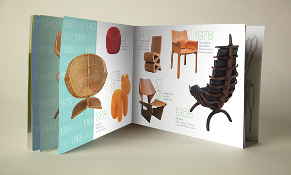 brochure  editorial  chair  chair design lacma  100 years