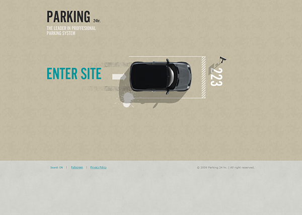 Parking Dynamic Flash Template on Behance