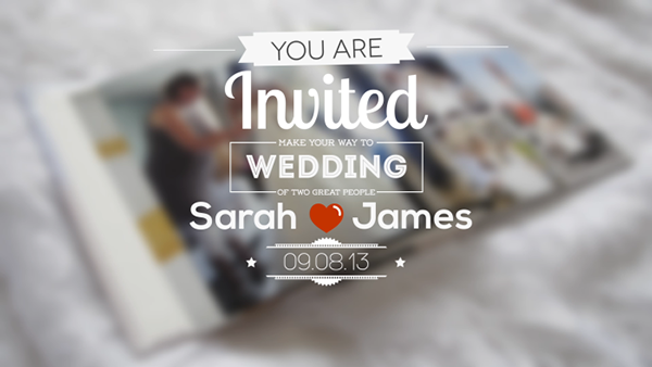 date Event intro Invitation invite kinetic Love marriage Retro Title typographic vintage wedding after effects template