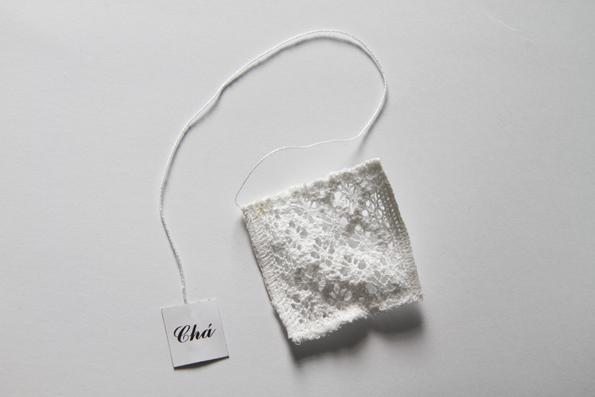 textile lace handmade creative Modern Design teabag