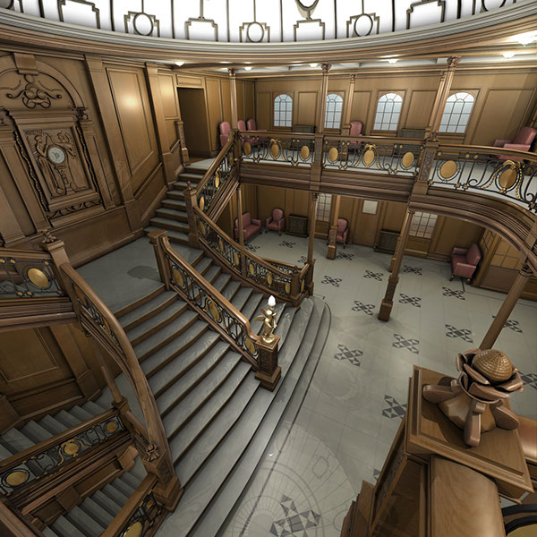 Titanic Grand Staircase Autodesk Maya On Ccs Portfolios