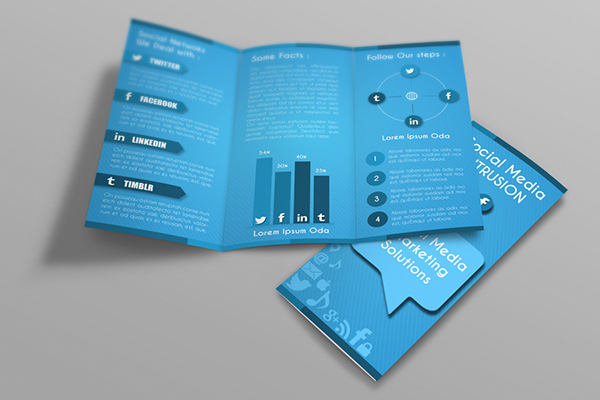 Social Media Tri Fold Brochure Template On Behance
