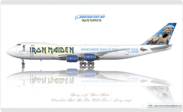 boeing 747 8f iron maiden livery concept on behance. Black Bedroom Furniture Sets. Home Design Ideas