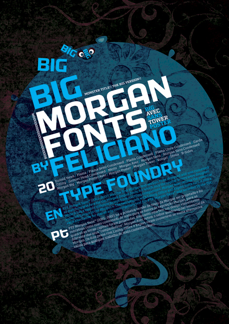 Poster Morgan & Klavika Font on Behance