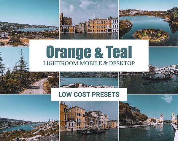 Orange & Teal   Mobile & Desktop Lightroom Preset on Pantone