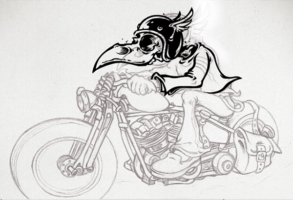 Mad Crow Garage - Vector Artwork