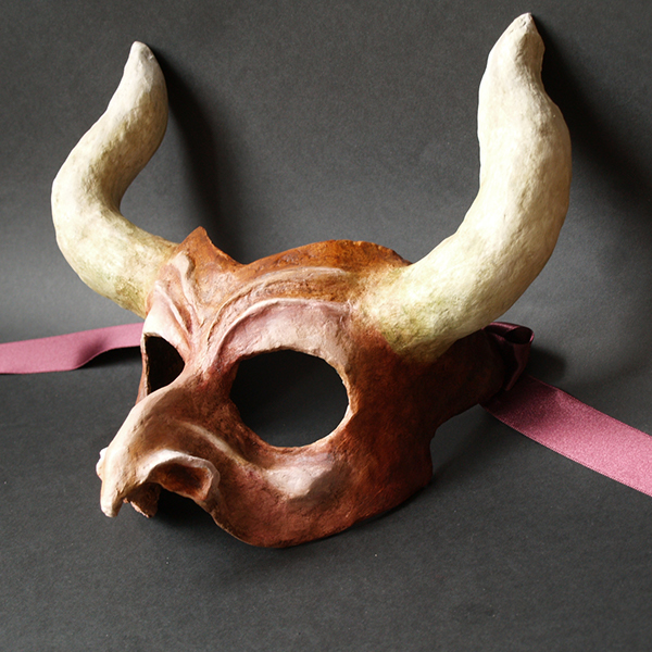 Paper mache masks on behance - Masque papier mache ...