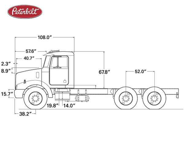 What Are The Dimensions Of A Semi Truck : Semi truck dimensions diagram get free image about