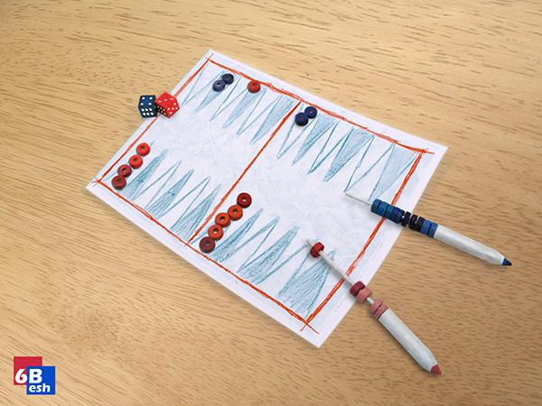 6besh portable backgammon kit on pantone canvas gallery. Black Bedroom Furniture Sets. Home Design Ideas