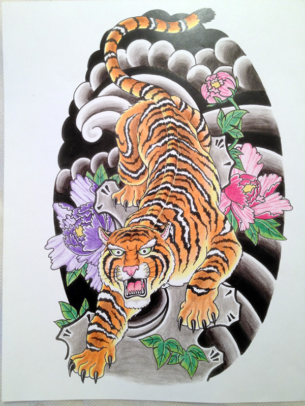 Japanese tiger on Behance