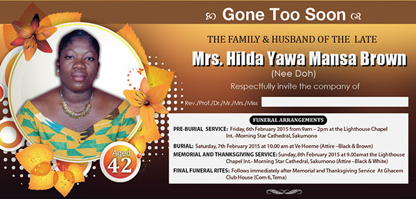 Funeral Poster Design On Behance