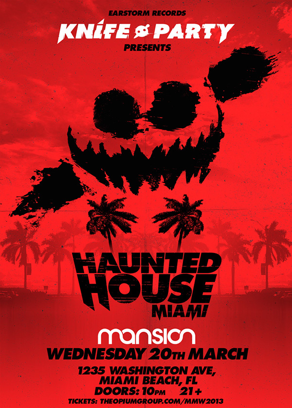 Knife Party & Skrillex - Haunted House Tour on Behance