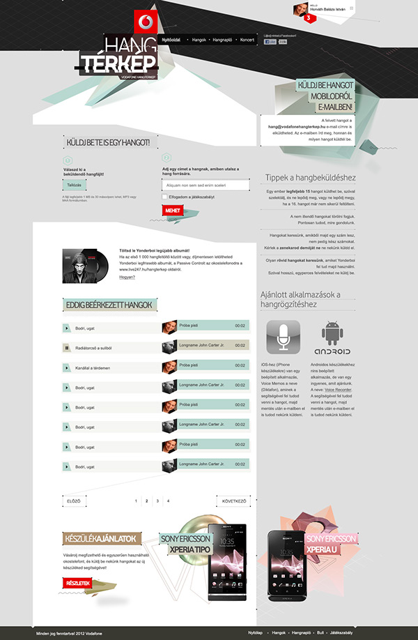 sound  crowdsourcing sound spectrum  soundmapping campaign  microsite vodafone sample collection  youth