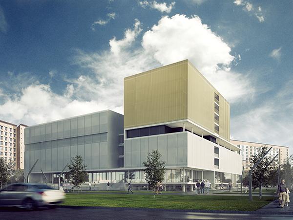 3D Render sports centre postproduction