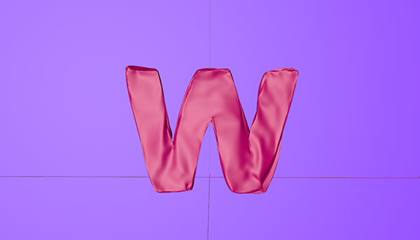 Balloon and Cloth effect 3D word in C4D